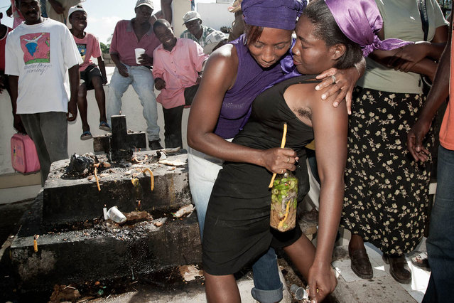 Port-au-Prince, Haiti. All Souls' Day in Petion-Ville cemetery in November 2003. (Photo by Jean-Claude Coutausse)