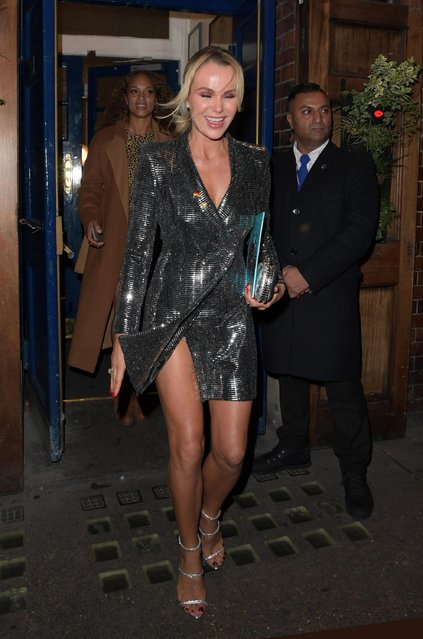 Amanda Holden attends the opening night of Everybody's Talking About Jamie, a new musical for today at The Apollo Theatre on November 22, 2017 in London, England. (Photo by Splash News and Pictures)