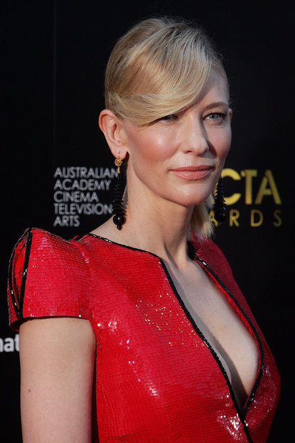 Cate Blanchett arrives at the 2nd Annual AACTA Awards at The Star on January 30, 2013 in Sydney, Australia. (Photo by Lisa Maree Williams)