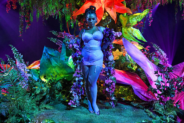 In this image released on October 1, Paloma Elsesser is seen onstage during Rihanna's Savage X Fenty Show Vol. 2 presented by Amazon Prime Video at the Los Angeles Convention Center in Los Angeles, California; and broadcast on October 2, 2020. (Photo by Kevin Mazur/Getty Images for Savage X Fenty Show Vol. 2 Presented by Amazon Prime Video)