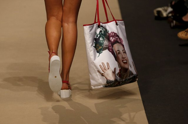 A model wears a creation by Peruvian designer Jessica Butrich during Lima Fashion Week, LIF Week Summer 15-16, in Lima October 28, 2015. (Photo by Mariana Bazo/Reuters)