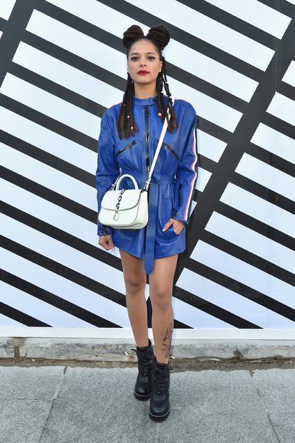 Sasha Lane attends the Louis Vuitton show as part of the Paris Fashion Week Womenswear Spring/Summer 2017  on October 5, 2016 in Paris, France. (Photo by Pascal Le Segretain/Getty Images)