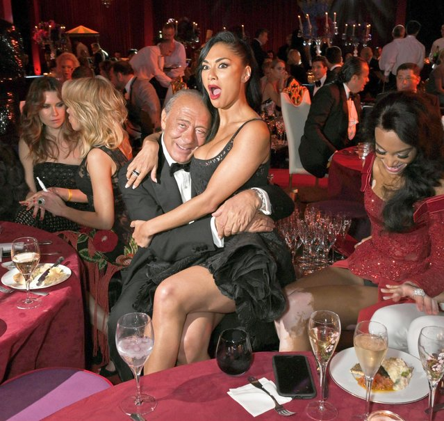 Fawaz Gruosi, Nicole Scherzinger, Winnie Harlow and Cindy Bruna attend the de Grisogono party during the 71st annual Cannes Film Festival at Villa des Oliviers on May 15, 2018 in Cap d'Antibes, France. (Photo by David M. Benett/Dave Benett/Getty Images)