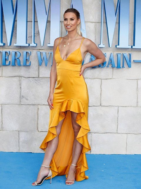 """Ferne McCann attends the UK Premiere of """"Mamma Mia! Here We Go Again"""" at Eventim Apollo on July 16, 2018 in London, England. (Photo by John Phillips/Getty Images)"""