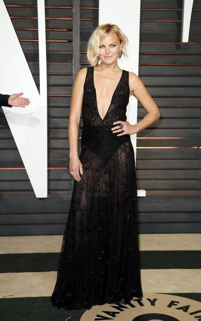 Actress Malin Akerman arrives at the 2015 Vanity Fair Oscar Party in Beverly Hills, California February 22, 2015. (Photo by Danny Moloshok/Reuters)