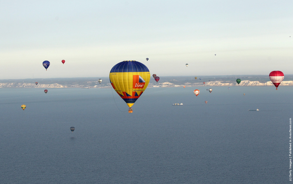 Over Fifty Hot Air Balloons Attempt The Largest Ever Balloon Crossing Of The English Channel