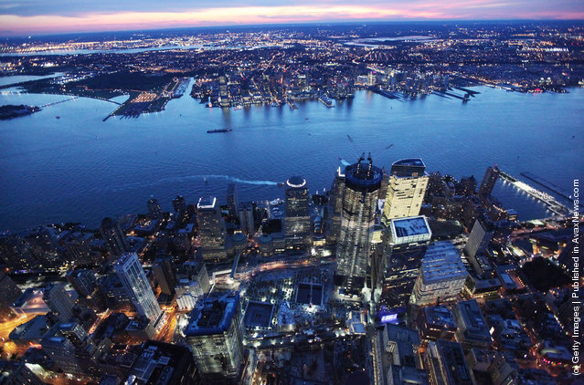 Construction Continues At Ground Zero On One World Trade Center