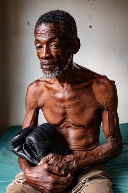 Vernon Vanriel, a successful London boxer in the 1980s, has been stuck in Jamaica for the past 13 years, a victim of the Windrush scandal. He lives in a shack in Savanna-La-Mar, ill and destitute. (Photo by David Levene/The Guardian)