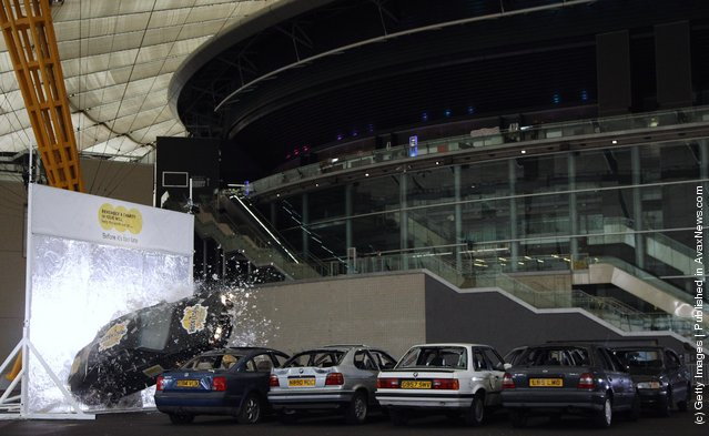 Stunt Driver Rocky Taylor's World Record Attempt At The O2 Arena