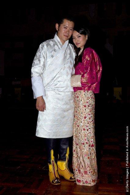 King Jigme Khesar Namgyel Wangchuck, and future Queen of Bhutan Ashi Jetsun Pema Wangchuck
