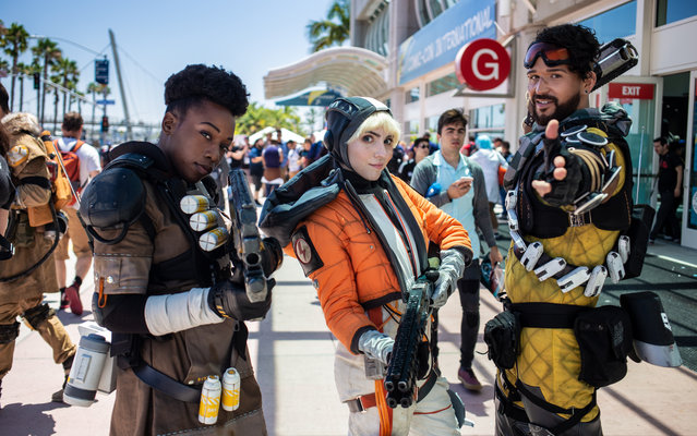 Apex Legends Cosplayers attend 2019 Comic-Con International on July 19, 2019 in San Diego, California. (Photo by Andrew Levy/Getty Images)
