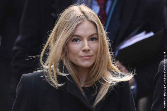 Actress Sienna Miller arrives to give evidence to The Leveson Inquiry at The Royal Courts of Justice