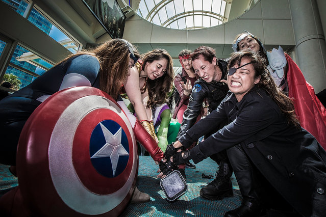 A group of costumed fans attend Comic-Con International at San Diego Convention Center on July 12, 2015 in San Diego, California. (Photo by Daniel Knighton/Getty Images)