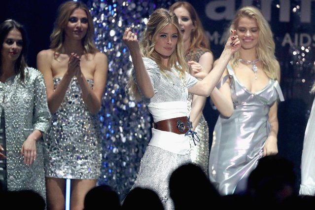 Doutzen Kroes appears on stage at the amfAR's 23rd Cinema Against AIDS Gala at Hotel du Cap-Eden-Roc on May 19, 2016 in Cap d'Antibes, France. (Photo by Andreas Rentz/Getty Images)