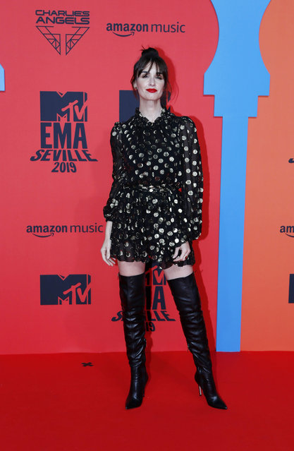Paz Vega attends the MTV EMAs 2019 at FIBES Conference and Exhibition Centre on November 03, 2019 in Seville, Spain. (Photo by Europa Press Entertainment/Europa Press via Getty Images)