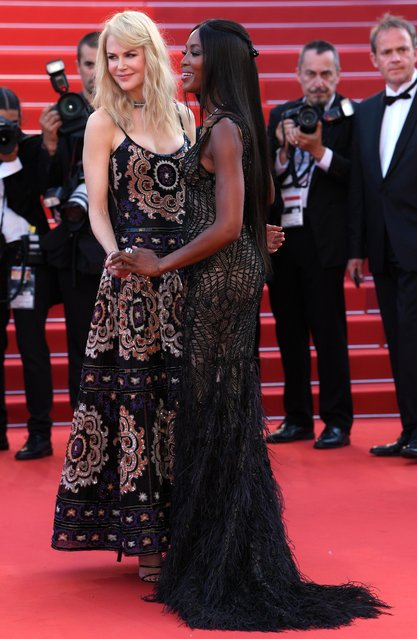 Nicole Kidman and Naomi Campbell attend the 70th Anniversary screening during the 70th annual Cannes Film Festival at Palais des Festivals on May 23, 2017 in Cannes, France. (Photo by David Fisher/Rex Features/Shutterstock)