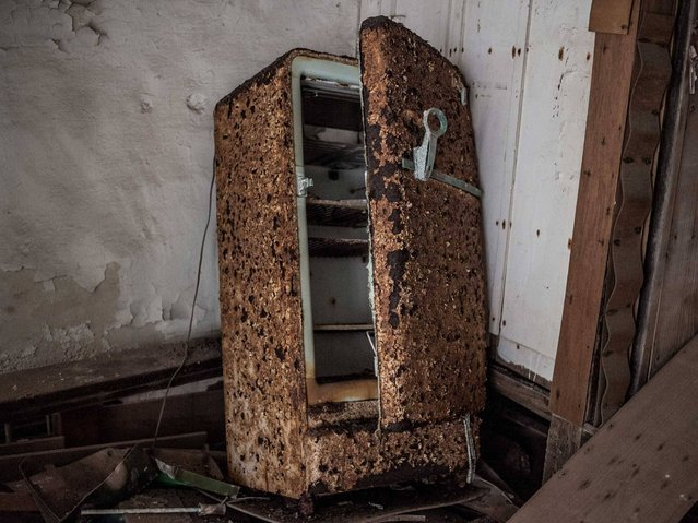 A relic of a fridge. (Photo by Mark C. O'Flaherty)