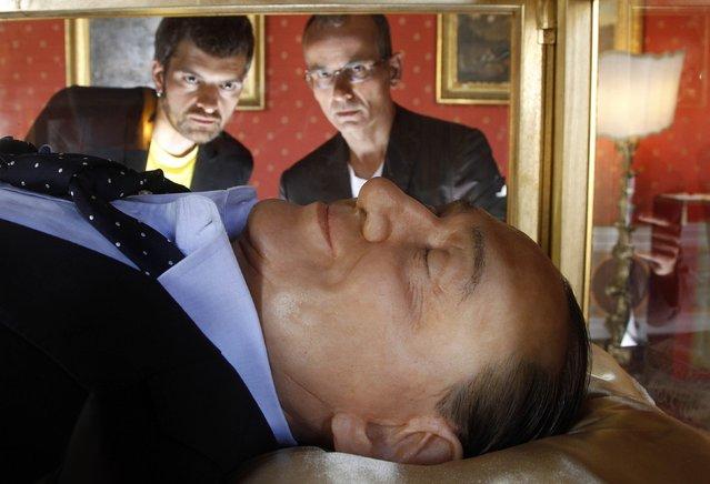 The Italian Dream Wax Sculpture Of Silvio Berlusconi Is Exhibited In Rome