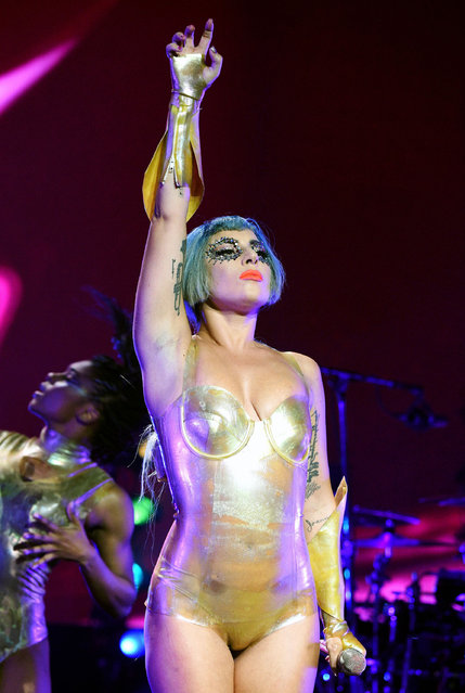 Lady Gaga performs onstage during AT&T TV Super Saturday Night at Meridian at Island Gardens on February 01, 2020 in Miami, Florida. (Photo by Kevin Mazur/Getty Images for AT&T)
