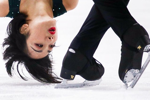 Sui Wenjing and Han Cong of China in action during the Pairs Short Program of the ISU Figure Skating Grand Prix final at Palavela on December 6, 2019 in Turin, Italy (Photo by Sergei Bobylev/Itar-Tass News Agency/Alamy Live News)