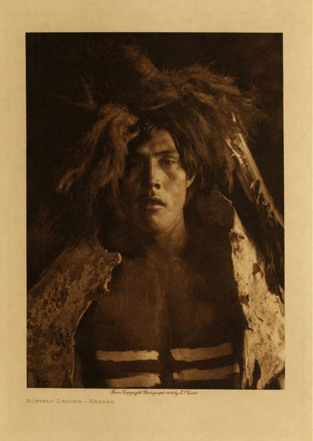 A Mandan man in 1908. (Photo by Edward S. Curtis)