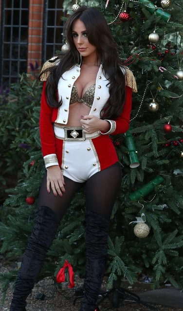 """Amber Dowding at the """"The Only Way is Essex"""" TV show Christmas Special filming in Suffolk, England on November 23, 2017. (Photo by Beretta/Sims/Rex Features/Shutterstock)"""