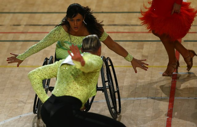 Peter Schaur and Sanja Vukasinovic of Austria dance as they compete during IPC Wheelchair Dance Sport European Championships in Lomianki near Warsaw, November 9, 2014. (Photo by Kacper Pempel/Reuters)