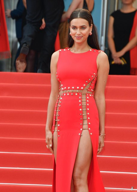 "Model Irina Shayk attends the screening of ""Sorry Angel (Plaire, Aimer Et Courir Vite)"" during the 71st annual Cannes Film Festival at Palais des Festivals on May 10, 2018 in Cannes, France. (Photo by George Pimentel/WireImage)"