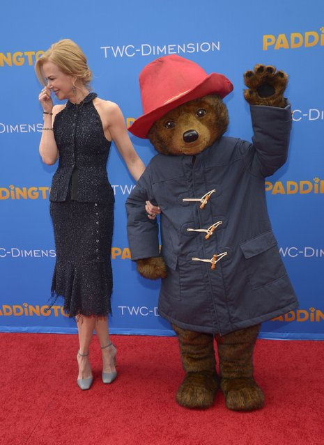 "Cast member Nicole Kidman attends the premiere of the film ""Paddington"" in Los Angeles January 10, 2015. (Photo by Phil McCarten/Reuters)"