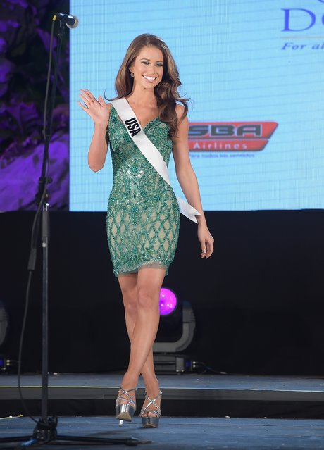 Miss USA Nia Sanchez attends Miss Universe Welcome Event and Reception at Downtown Doral Park on January 9, 2015 in Doral, Florida. (Photo by Gustavo Caballero/Getty Images)