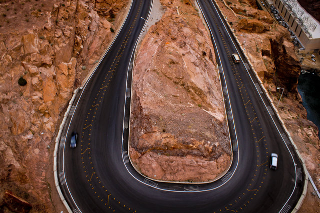 """The U-turn"". It caught my eye when i was walking on a bridge so i got my camera and clicked a photograph... really glad i did. Location: On the border of NV and AZ on the way to grand canyon from Las Vegas. (Photo and caption by Karan Ahuja/National Geographic Traveler Photo Contest)"