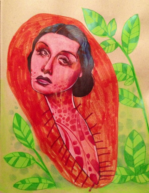 Illustrator Mica Angela Hendricks Collaborates with Her 4 year Old Daughter