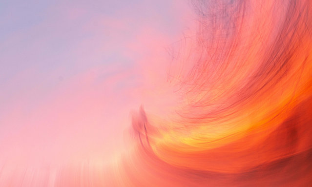 The scintillating psychedelic sunset in San Diego, California on Thursday, January 7th, 2020. (Photo by Rishi Deka/ZUMA Wire/Rex Features/Shutterstock)