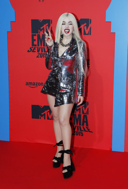 Ava Max attends the MTV EMAs 2019 at FIBES Conference and Exhibition Centre on November 03, 2019 in Seville, Spain. (Photo by Europa Press Entertainment/Europa Press via Getty Images)