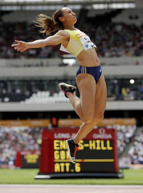 Athletics, IAAF Diamond League 2015, Sainsbury's Anniversary Games, Queen Elizabeth Olympic Park, London, England July 25, 2015: Great Britain's Jessica Ennis Hill in action during the Women's long jump. (Photo by Henry Browne/Reuters/Action Images)