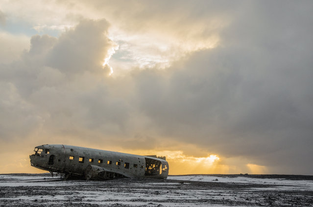 Shortlisted: Sólheimasandur aircraft crash site, Iceland by Ollie Conway. (Photo by Ollie Conway/Historic Photographer of the Year Awards 2019/The Guardian)
