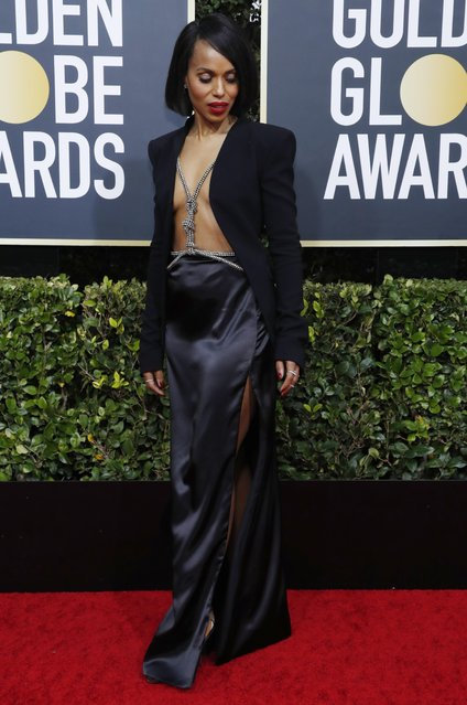 Kerry Washington arrives for the 77th annual Golden Globe Awards on January 5, 2020, at The Beverly Hilton hotel in Beverly Hills, California. (Photo by Mario Anzuoni/Reuters)