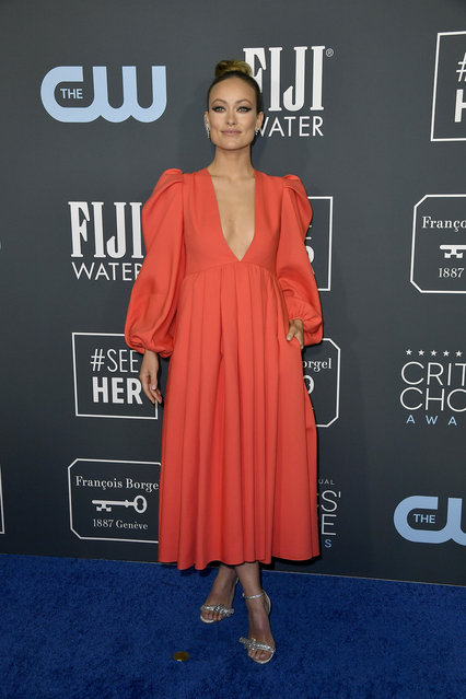 Olivia Wilde attends the 25th Annual Critics' Choice Awards at Barker Hangar on January 12, 2020 in Santa Monica, California. (Photo by Frazer Harrison/Getty Images)