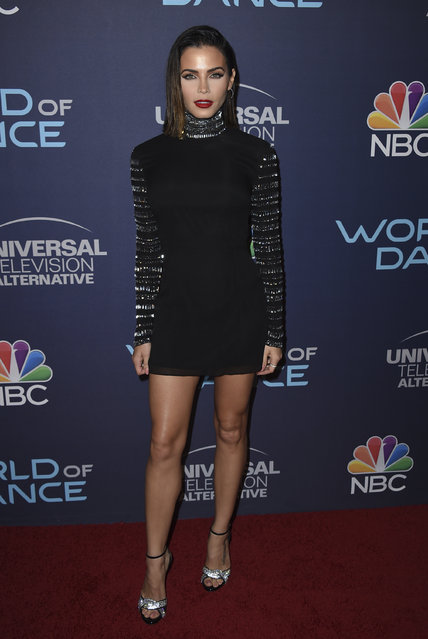 "Jenna Dewan Tatum arrives at the ""World of Dance"" Celebration at Delilah on Tuesday, September 19, 2017, in West Hollywood, Calif. (Photo by Jordan Strauss/Invision/AP Photo)"