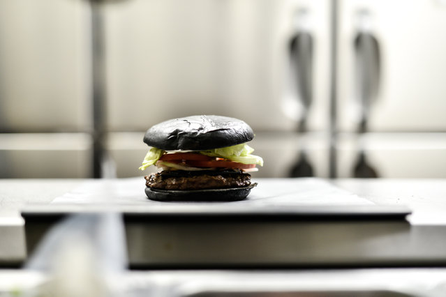 A black hamburger is seen at a Burger King restaurant on September 18, 2014 in Tokyo, Japan. (Photo by Keith Tsuji/Getty Images)