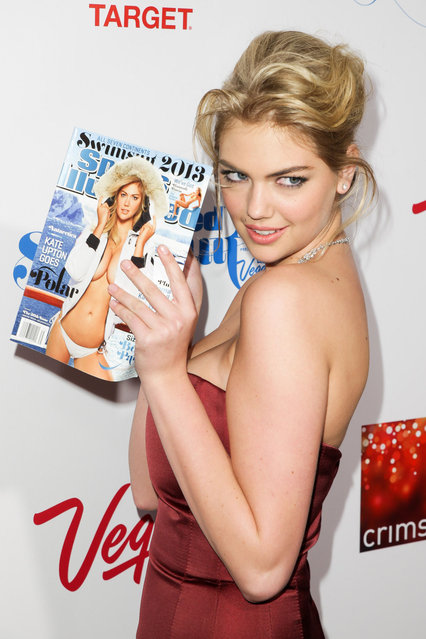 Model Kate Upton attends Sports Illustrated Swimsuit Launch Party at Crimson on February 12, 2013 in New York City. (Photo by Gilbert Carrasquillo/FilmMagic)