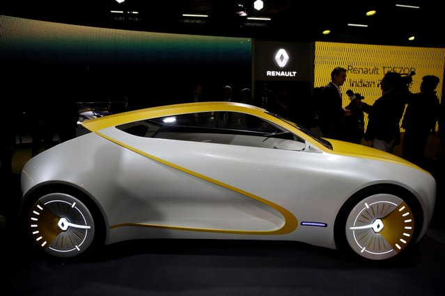 Renault's Reon concept car is displayed at the Auto Expo in Greater Noida, near New Delhi, India, Wednesday, February7, 2018. The biennial automobile exhibition opens to public Friday and runs till Feb.14. (Photo by Altaf Qadri/AP Photo)