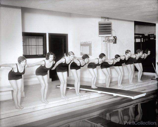 Marjorie Webster School Swimmers, photographed by Harris & Ewing, 1930s.