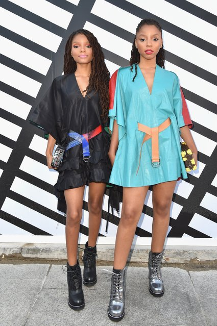 Chloe Bailey and Halle Bailey aka Chloe & Halle attend the Louis Vuitton show as part of the Paris Fashion Week Womenswear Spring/Summer 2017  on October 5, 2016 in Paris, France. (Photo by Pascal Le Segretain/Getty Images)