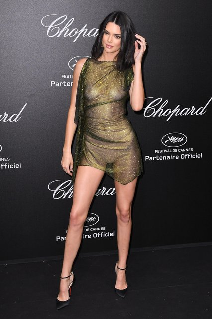 US model Kendall Jenner poses as she arrives on May 11, 2018 for the Secret Chopard Party on the sidelines of the 71 st Cannes film festival in Cannes, southeastern France. (Photo by James Gourley/Rex Features/Shutterstock)