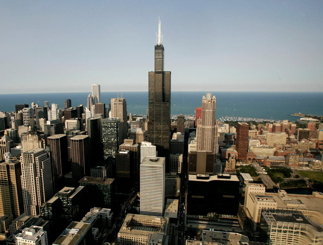 12: Chicago's Willis Tower, formerly the Sears Tower. Height: 1,451 ft. (Photo by Jason Reed/Reuters)