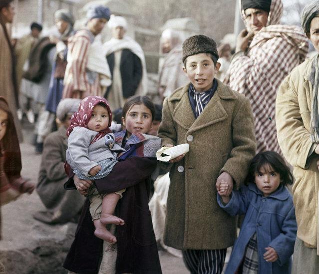 Children in a Kabul street, November, 1961. (Photo by Henry Burroughs/AP Photo via The Atlantic)