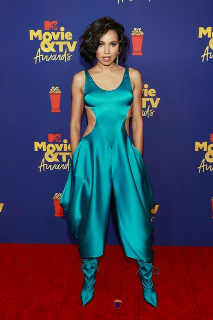 American actress Jurnee Smollett attends the 2021 MTV Movie & TV Awards at the Hollywood Palladium on May 16, 2021 in Los Angeles, California. (Photo by Matt Winkelmeyer/2021 MTV Movie and TV Awards/Getty Images for MTV/ViacomCBS)