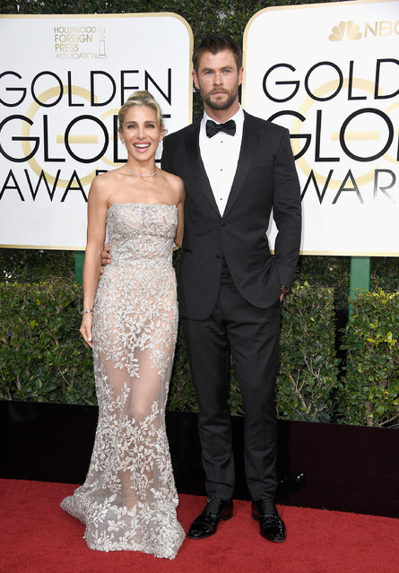 Actor Chris Hemsworth (R) and model Elsa Pataky attend the 74th Annual Golden Globe Awards at The Beverly Hilton Hotel on January 8, 2017 in Beverly Hills, California. (Photo by Frazer Harrison/Getty Images)