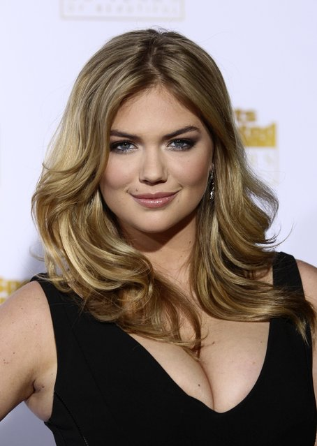 Kate Upton arrives for the 50 Years of Beautiful broadcast special show celebrating the 50th Anniversary of the Sports Illustrated Swimsuit Issue at the Dolby Theater in Los Angeles, California, January 14, 2014. (Photo by David McNew/Reuters)